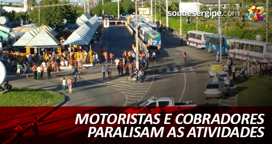 Tráfego foi interrompido na região do terminal de ônibus do Distrito Industrial de Aracaju (Foto: Alex Carvalho)