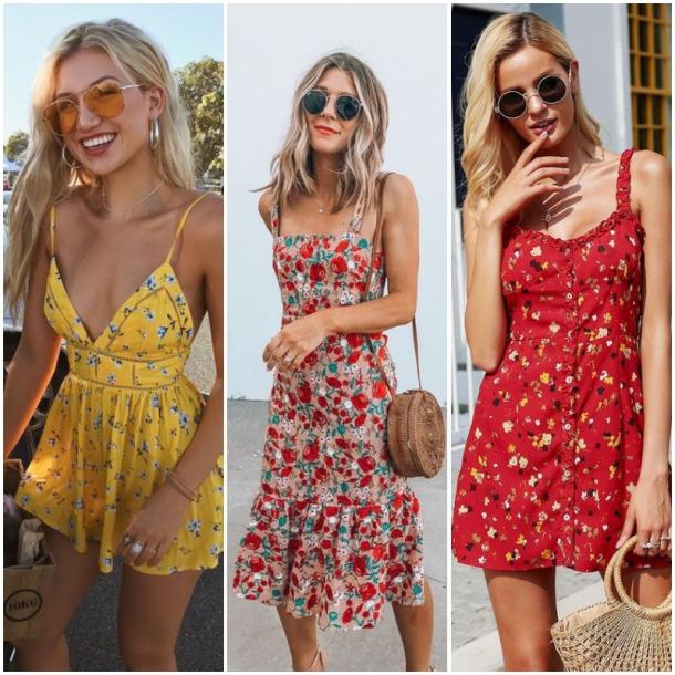 5111b6e5f A grande tendência desse verão de 2019, são os vestidos vintage. Vestidos  minimalistas, com cortes e decotes mais retos e simples, com estampas  clássicas ...