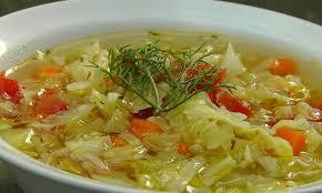 Considerando a dieta da sopa de repolho